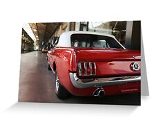 ford mustang, cabriolet classic car Greeting Card