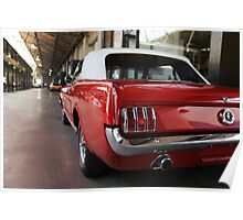 ford mustang, cabriolet classic car Poster