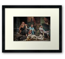 The Men Mourn Framed Print