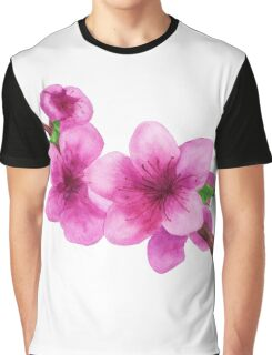 Pink flowers of peach Graphic T-Shirt
