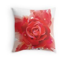 Rose Friday - Red Friday - Rose Summer Throw Pillow