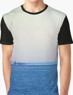 View On Gardiners Point Island | Orient Point, New York Graphic T-Shirt