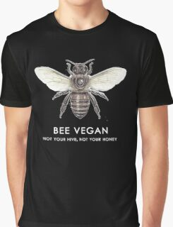 Bee Vegan  Graphic T-Shirt