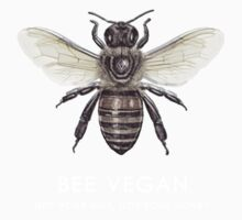 Bee Vegan  One Piece - Short Sleeve