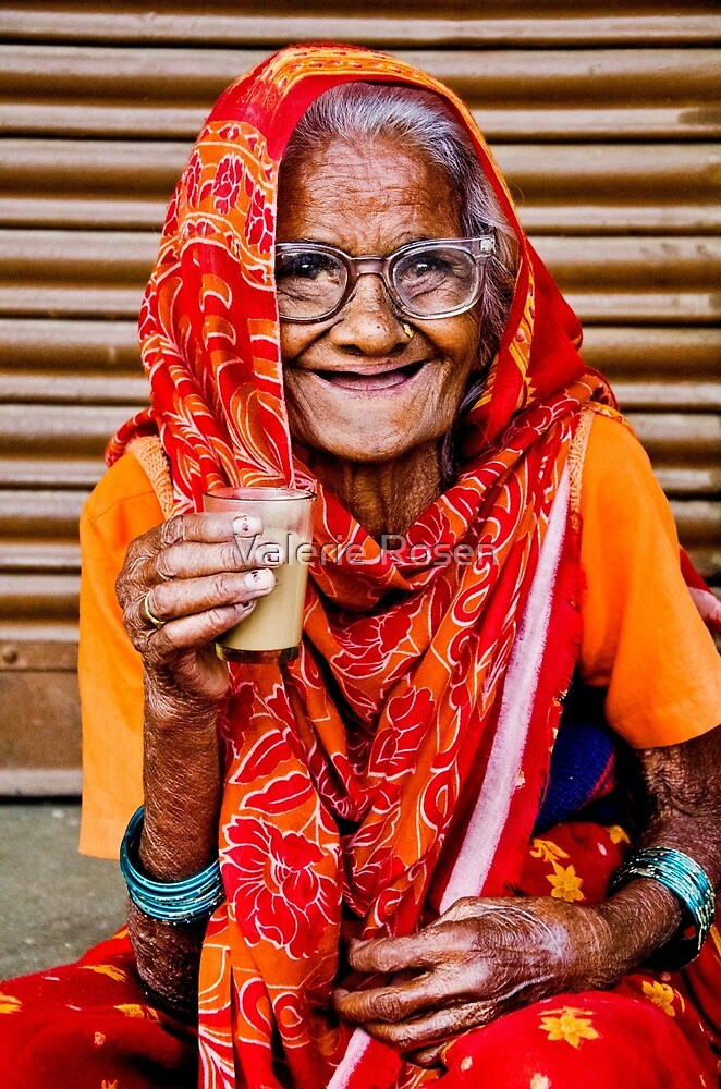 A Lady and Her Chai II by Valerie Rosen