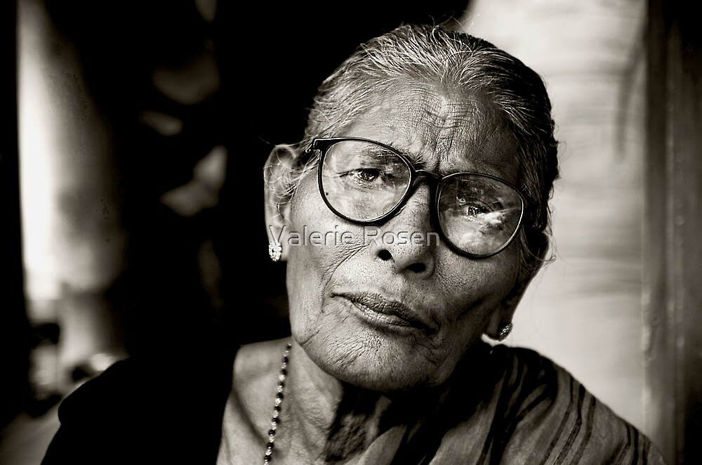 Portrait of a Woman in Madurai by Valerie Rosen