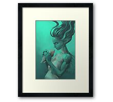 Mermaid with Shell Framed Print