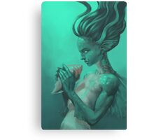 Mermaid with Shell Canvas Print