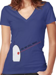 Are You Still There? Women's Fitted V-Neck T-Shirt