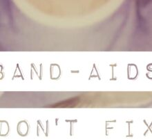 Taylor Swift-Band Aids Don't Fix Bullet Holes Sticker