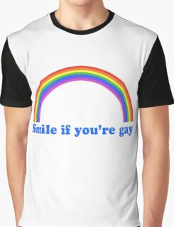 Smile If You're Gay Graphic T-Shirt