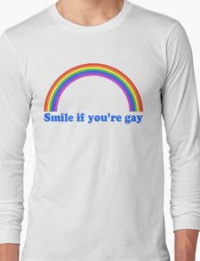 Smile If You're Gay Long Sleeve T-Shirt