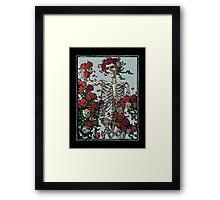Skeleton & Roses Framed Print