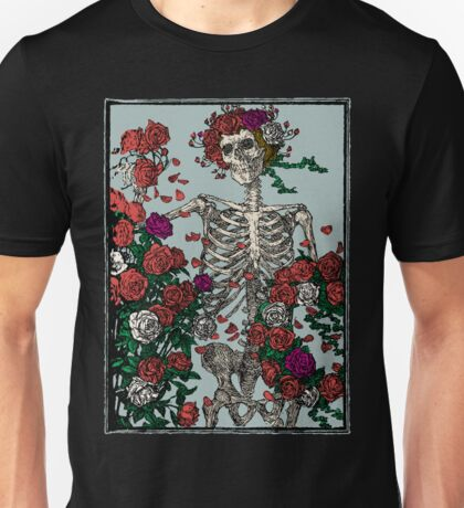 Skeleton & Roses Unisex T-Shirt