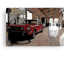 ford mustang cabriolet classic car Canvas Print