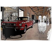 ford mustang cabriolet classic car Poster