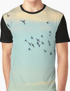 Calidris Bairdii - Baird's Sandpiper Flock | Long Beach Point, New York Graphic T-Shirt