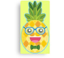 Nerdy Pineapple Canvas Print