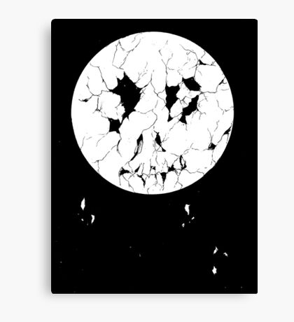 Decayed Moon Canvas Print