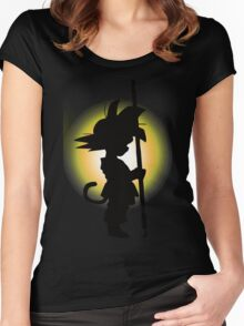 Goku - Silhouette Women's Fitted Scoop T-Shirt