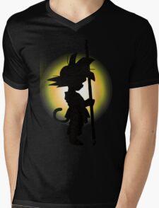 Goku - Silhouette Mens V-Neck T-Shirt