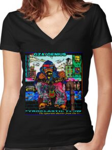 Genius GZA Pyroclastic Flow Women's Fitted V-Neck T-Shirt