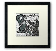 Liquid Swords Album Art Sketch Framed Print