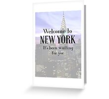 Taylor Swift-Welcome to New York Greeting Card