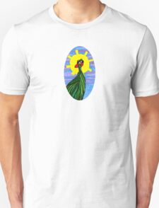Psychedelic Abstract colourful Fowl Crest Unisex T-Shirt