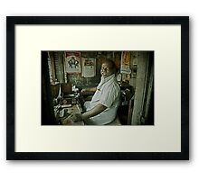 Portrait of a Temple Worker Framed Print