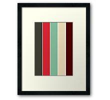 Color Scheme: Vintage Framed Print