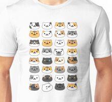 Neko atsume - cat collector faces Unisex T-Shirt