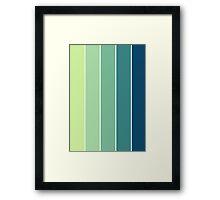 Color Scheme: Rainforrest Framed Print
