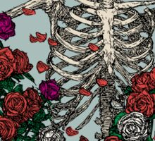 Skeleton & Roses - transparent Background Sticker