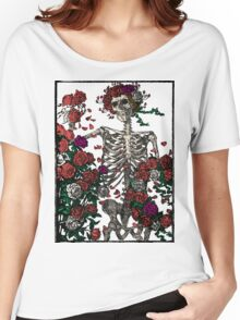 Skeleton & Roses - transparent Background Women's Relaxed Fit T-Shirt