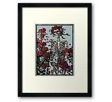Skeleton & Roses - transparent Background Framed Print