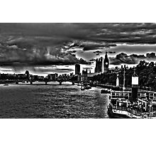 Houses of Parliament from the Thames Photographic Print
