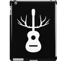 White Antlers Acoustic Guitar iPad Case/Skin