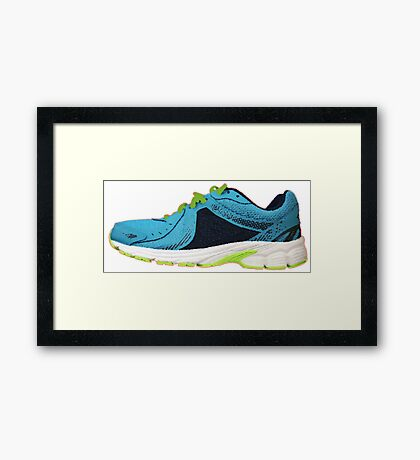 Don't Step on my Blue Suede shoes Framed Print