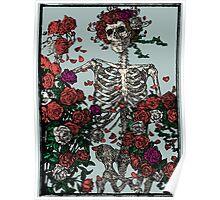 Skeleton & Roses - other big Version. Poster