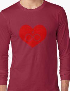 I Love Harry Potter Lightning Bolt Geeky Red Heart Long Sleeve T-Shirt