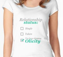 Too busy shipping Olicity Women's Fitted Scoop T-Shirt