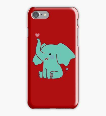 Heart Elephant iPhone Case/Skin