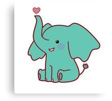 Heart Elephant Canvas Print