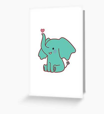 Heart Elephant Greeting Card