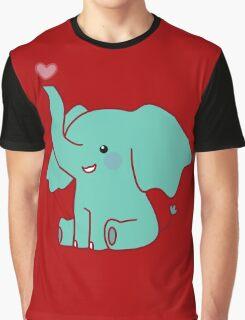 Heart Elephant Graphic T-Shirt