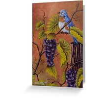 Bluey and the Grape Vine Greeting Card