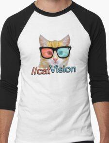 Cat Vision Men's Baseball ¾ T-Shirt