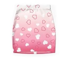 Pink Ombre Hearts Mini Skirt