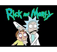 Rick and Morty Design Photographic Print